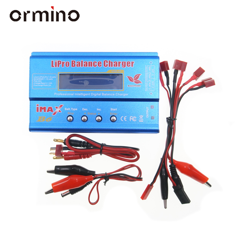 Ormino IMAX B6 Lipo Battery Balance Charger NiMh Li-ion Ni-Cd Digital Charger Discharger 2S-6S Lipo RC Drone FPV Quadcopter kit ocday 1set imax b6 lipo nimh li ion ni cd rc battery balance digital charger discharger new sale