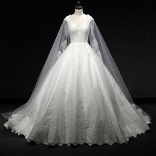 saf sid V-neck Ball Gown Wedding Dress Bride Dress