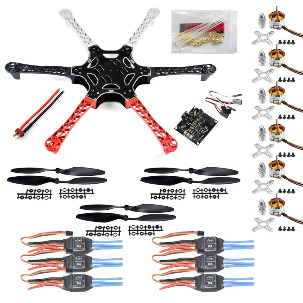 F05114-C HexaCopter ARF Drone F550 Hex-Rotor FlameWheel Kit + KK 2.3 Flight Controller ESC Motor Propeller + FS huf кенгуру huf welcome committee pullover gunmetal