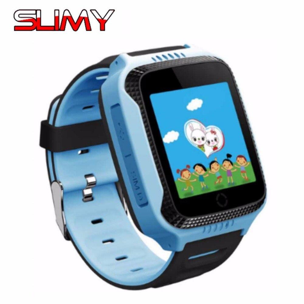 """Слизняк q528 дети умные часы-телефон GPS трекер SmartWatch для детей с фонариком 1.44 """"Сенсорный экран sim-карты Камера"""