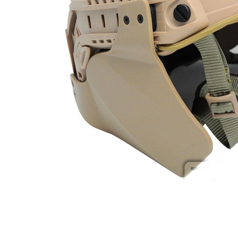 Ach Mich Быстрый Шлем ушной протектор комплект 2 боковой лицевой крышки тактические шлемы боковые чехлы с шлем рельсовый аксессуар