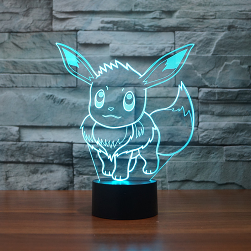 New Pocket Series Ibrahimovic 3D light colorful touch LED visual light gift atmosphere decorative lamp
