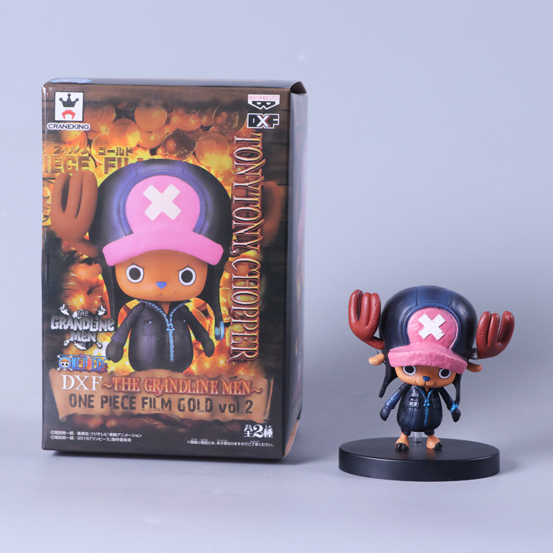 ONE PIECE FILM GOLD Doctor Tony Tony Chopper The Straw Hat Pirates Black Clothes Toys Action Figures Anime Collection Gifts