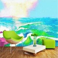 Wallpaper Pattern Hand Painted Sea Custom Wallpaper Murals Unusual Wall Art Kids Bedroom Decorating Ideas Room