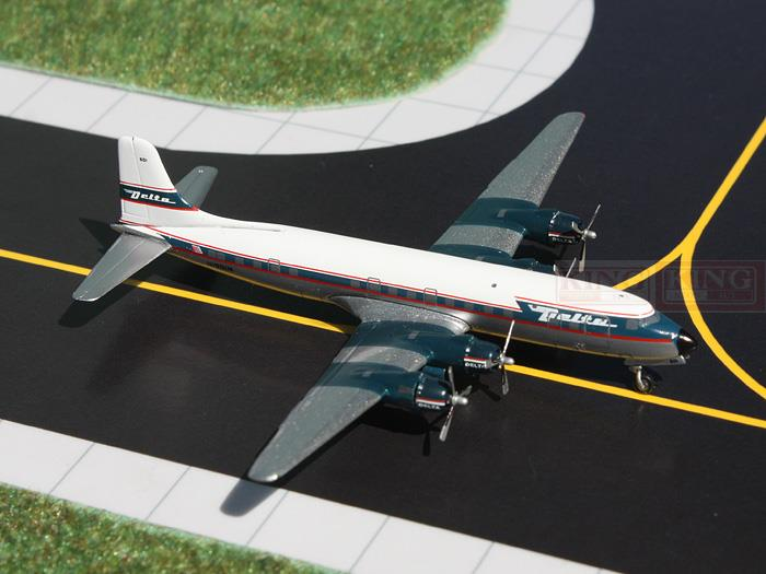 GeminiJets GJDAL973 America DC-6B 1:400 Delta commercial jetliners plane model hobby