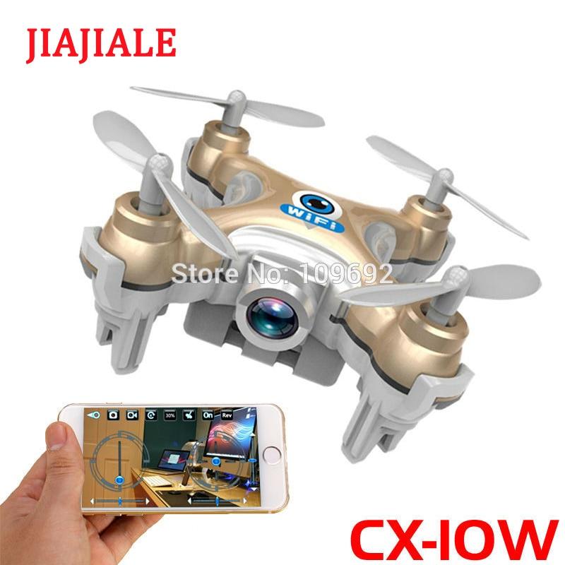 Free Shipping RC Drone Cheerson CX-10W CX10W MINI WIFI FPV Quadcopter 6-Axis 2.4G 4CH With 0.3MP HD Camera Helicopters Toy GiftsFree Shipping RC Drone Cheerson CX-10W CX10W MINI WIFI FPV Quadcopter 6-Axis 2.4G 4CH With 0.3MP HD Camera Helicopters Toy Gifts