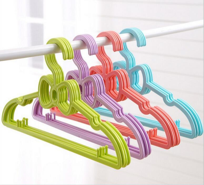 20pcs/lot 28cm New Baby bowknot hanger child hangers plastic kids clothes racks hangers for clothes