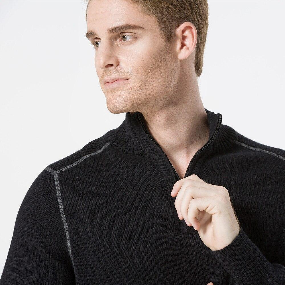 Aismz Men Sweater Pullovers 100% ბამბა 2017 ახალი - კაცის ტანსაცმელი - ფოტო 3