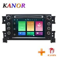 KANOR 2din Android 8,0 Автомобиль Радио 7 дюймов ips 1024*600 для Защитные чехлы для сидений, сшитые специально для Suzuki Grand Vitara 2005 2006 2007 2008 2009 2010 2011 Авто Радио стерео