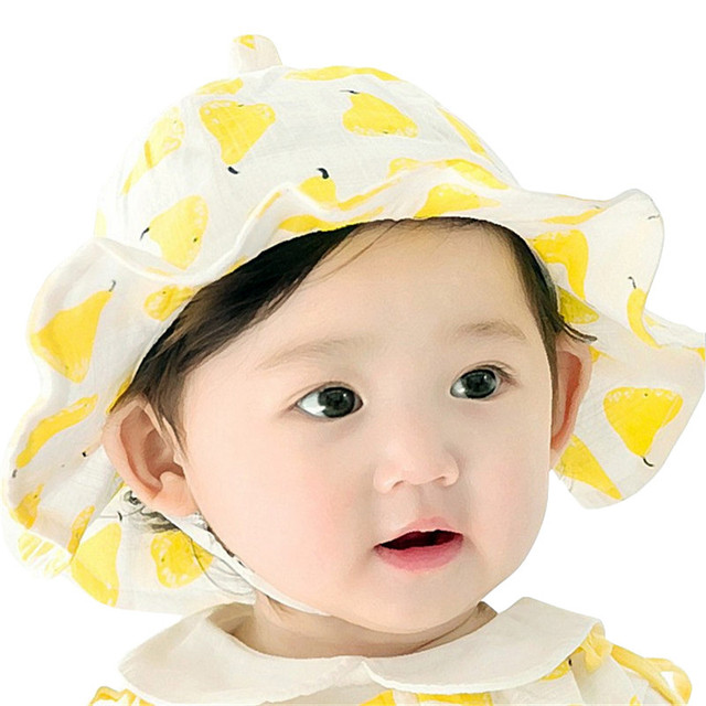 b5ce1694c3f Baby Hat Summer Outdoor Bucket Hat Children Pear Cap Sun Beach Cap Cute  Baby Girls Boys