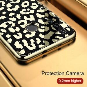 Image 4 - OTAO ציפוי זכוכית הדפס מנומר מקרה עבור Huawei P20 P30 פרו Mate 20 Lite רך TPU מקרי קצה כיסוי עבור Huawei נובה 4 3 3i Coque