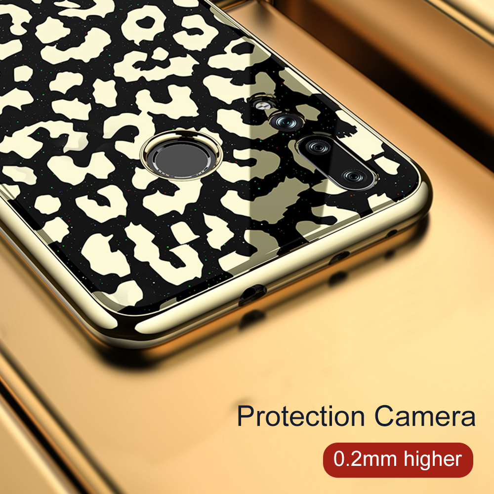 Image 4 - OTAO Plating Glass Leopard Print Case For Huawei P20 P30 Pro Mate 20 Lite Soft TPU Edge Cases Cover For Huawei Nova 4 3 3i Coque-in Fitted Cases from Cellphones & Telecommunications