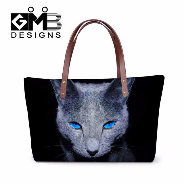 2017 Women S Over Shoulder Handbags For Work Las Stylish Beach Tote Bag Cute Cat