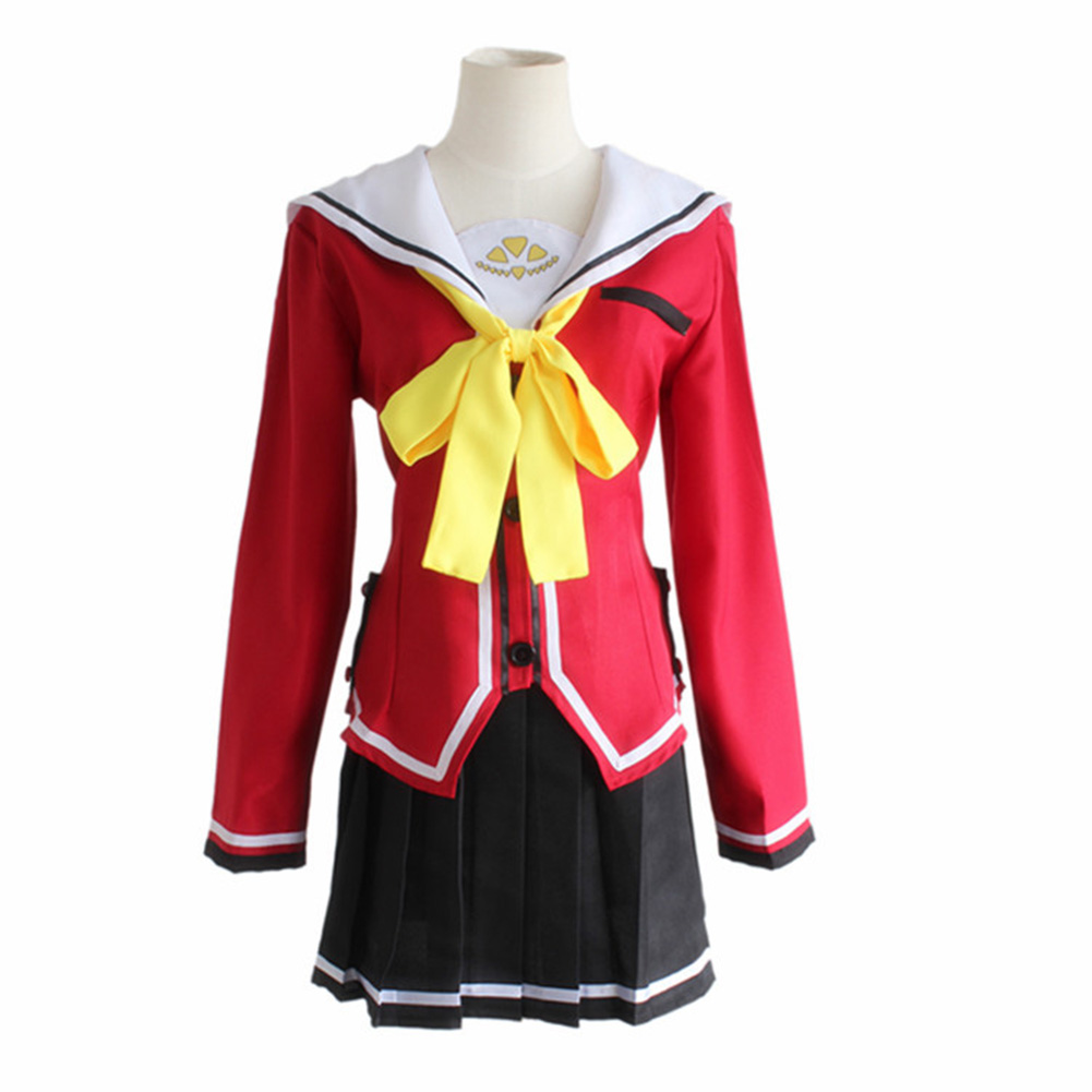 Brdwn Charlotte Hoshinoumi Academy Tomori Nao Yusa Nishimori Jojiro Takajo Cosplay Costumes School Uniform top+pants/skirt Easy To Repair