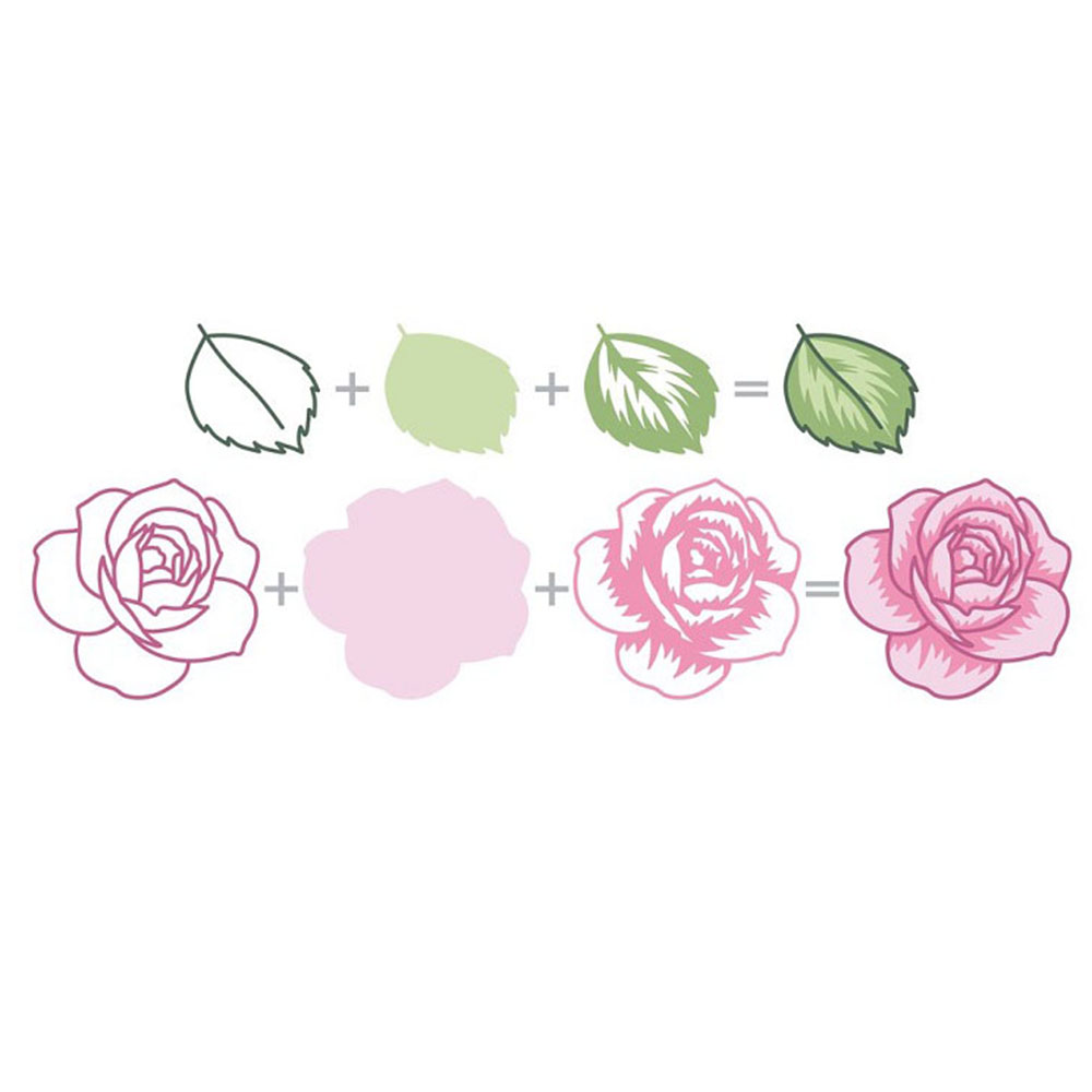 Rose Flower Cover Metal Cutting Dies Stencils for DIY Scrapbooking//photo Decor