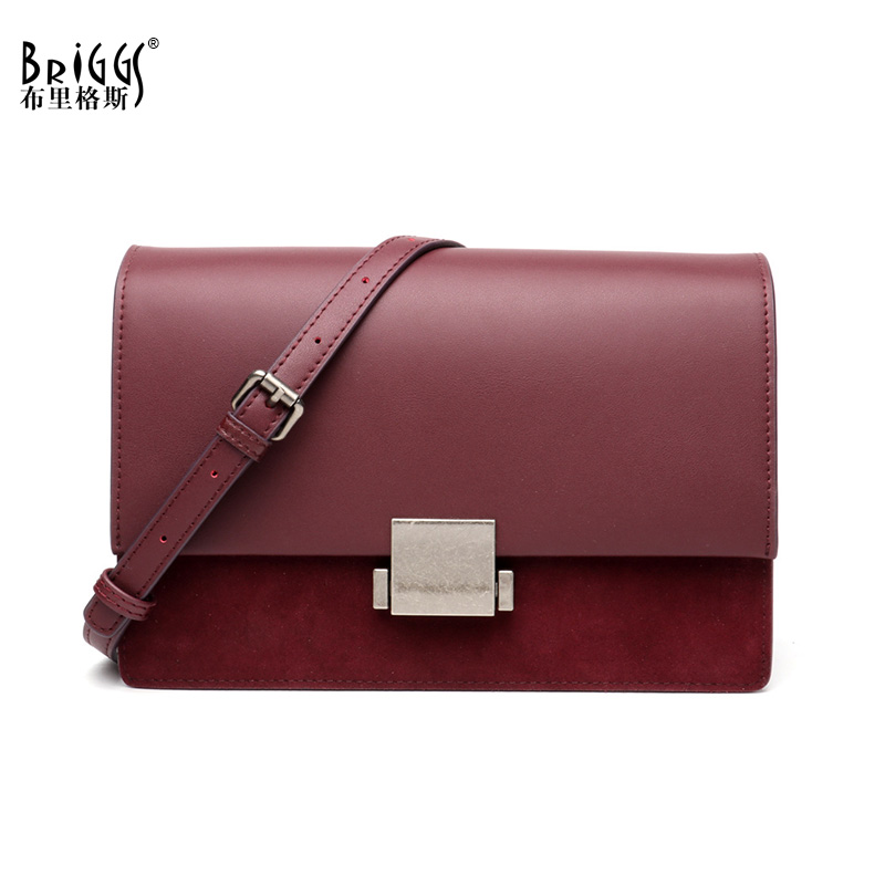 New 2018 BRIGGS Brand Genuine Leather Women Messenger Bag Fashion Shoulder Bag High Quality Flap Bag Casual Crossbody Bag suds brand genuine leather 2018 fashion women small shoulder bag high quality cow leather women messenger bag crossbody flap bag