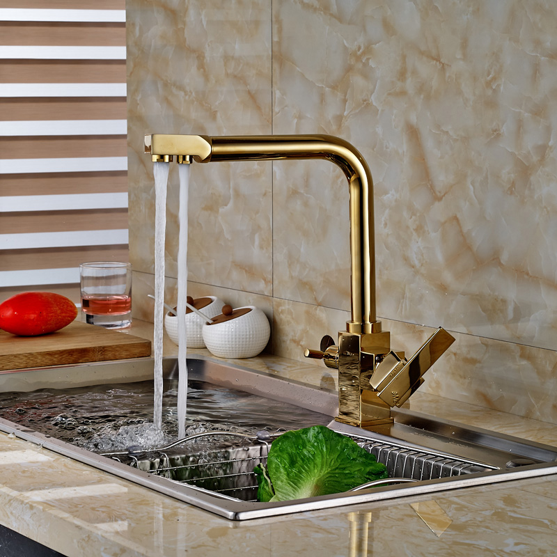 Luxury Kitchen Sink Water Pure Water Kitchen Mixer Faucet 2 Functions Hot and Cold Water Kitchen