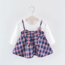 MUQGEW 2018 Hot Sale Toddler Kid Baby Girl Long Sleeve Stripe Bow Party Princess Dress Tops Dropshipping Baby Clothes