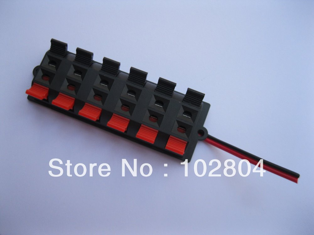 20 pcs speaker terminal board connector spring loaded 12 way with rh aliexpress com wire terminal board pcld-8710 wiring terminal board