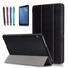 Funda para Huawei MediaPad T3 10 AGS-L09 AGS-L03 caja original diseño ultra-delgado de Negocios Cubierta de Cuero de LA PU Honor Juego Pad 2 9.6