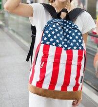 Бесплатная доставка 2015 известный дизайнер модного бренда/ВЕЛИКОБРИТАНИЯ флаг/флаг США мешок/мешок моды ранцы Путешествия рюкзак