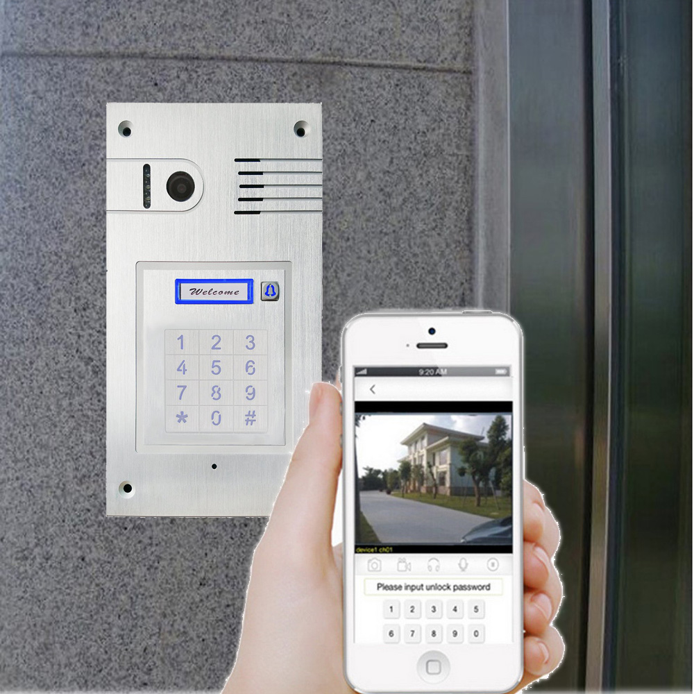 3G 4G/ WiFi IP Touchscreen Intercom System Two-way Intercom And Remotely Unlock Door Global Video Door Phone Embedded Wall