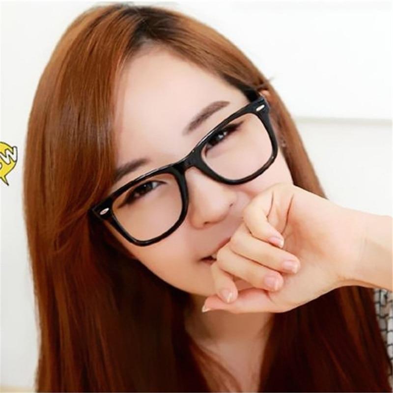 f281cf657a3 Detail Feedback Questions about 2017 9 Colors Eyeglasses Frames Glasses  Trendy Unisex Men Women Eye wear Frames Clear Lens Glasses Square Frame on  ...