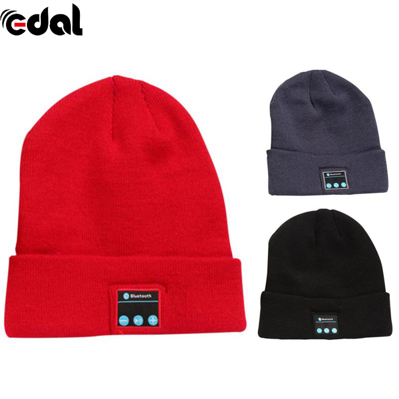 Bluetooth Wireless Sports Headphones Music hat Smart Caps Headset Earphone Warm Beanies Winter Hat With Speaker Microphone