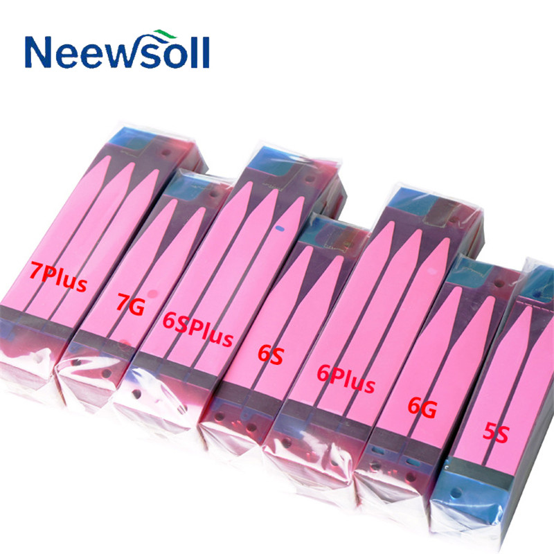 100pcs Neewsoll Original Battery Adhesive Sticker For iPhone X 5s 5c 6 6s 7 8 plus Battery Glue Tape Strip Tab Replacement Part