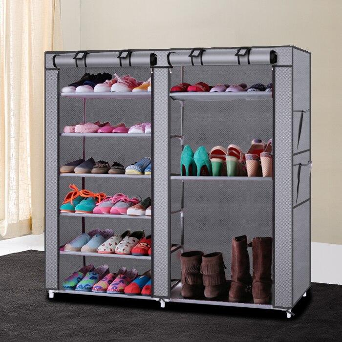 MoeTron Dustproof Shoe Rack Organizer DIY Portable Shoe Cabinet Modern Shoe  Storage Rack 6 Layer 12 Grid In Shoe Racks U0026 Organizers From Home U0026 Garden  On ...