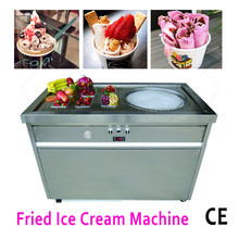 Fried Ice Cream single Pan commercial  Ice Cream Roll Machine with 1 pan with 6 salad bowls 220v 110v