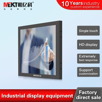 MEKT 19/17/15 inch Industrial Touch screen monitor, RS232(COM) touch screen Embedded\wall mounted front panel waterproof