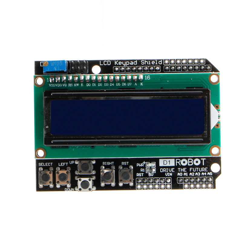 16x2 LCD LCD1602 Keypad Shield Module Display For Arduino LCD Shield UNO MEGA