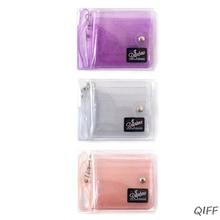 Transparent ID Card Holder PVC Folding Short Wallet Fashion