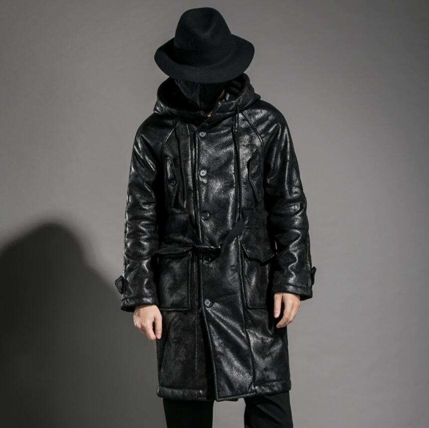 ... Winter Mens Coat Personality Flannel thickening Hooded long style male  warm casual windbreaker stage singer costumes on Aliexpress.com  f261b5fdb
