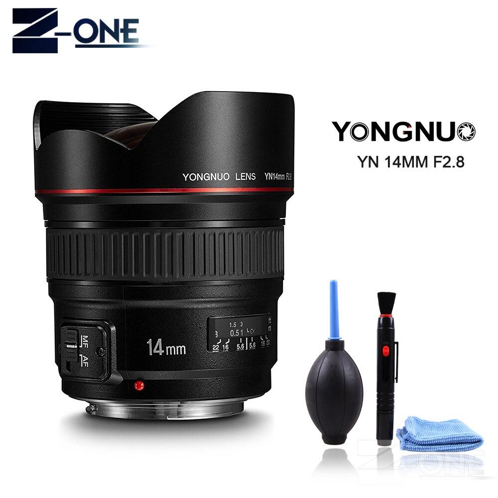 Objectif Yongnuo YN14mm F2.8 AF MF Autofocus objectif premier Ultra grand Angle 14mm pour Canon 5D Mark III IV 700D 80D appareil photo reflex numérique
