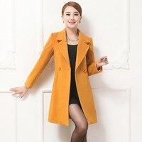 2019 пальто Баян кабан новый корейский модный, больших размеров Для женщин зимнее пальто Наивысшее качество тонкий Однотонная одежда с лацка