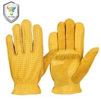 Мужские рабочие перчатки OZERO, Летние кожаные защитные перчатки из натуральной козьей кожи, защитные перчатки для сварочных мотоциклистов, ...