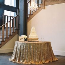 Factory Direct Wholesale 10PCS Wedding Table Decoration Glitter Gold Sequin  Tablecloth 120 Round Sequin Table Cloth Table Runner