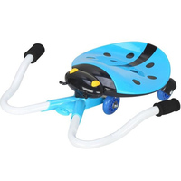 Ladybug Drift Type Pedal Wiggle Swing Scooter With Music Light Kids3 8 Years Children Ride On Car Toys TD0074