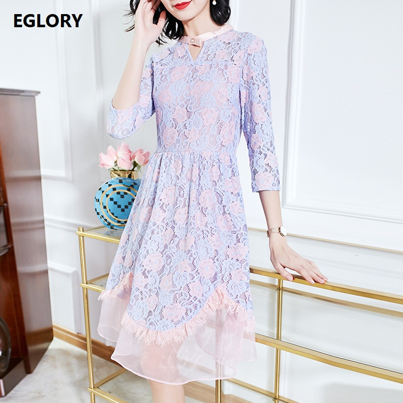 Sweet Cute Lace Dress New Hot Selling Women Hollow Out Lace Sexy Party Vestidos Dress Summer 2018 Ladies A-Line Audrey Dess