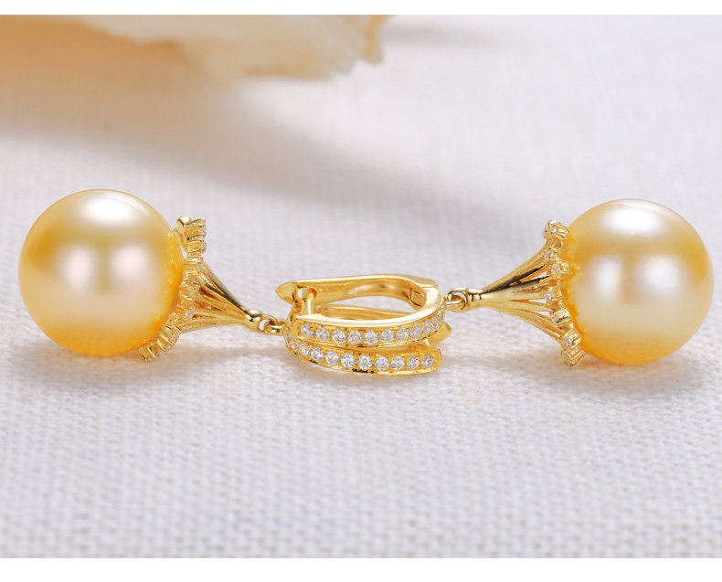 southsea pearls gold earrings 33