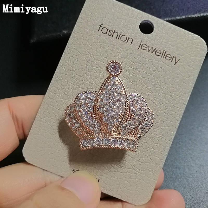 crown Clear cubic Zircon brooch pin for women Wedding party Jewelry Clothing  Accessories CB002 ff9fcf7d82b5