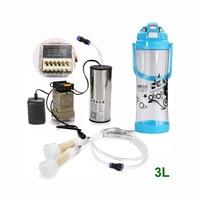 2L/3L Sheep Goat Electric Vacuum Milking Machine Kit With Vacuum Pump Timer 2 Heads Milker Bucket