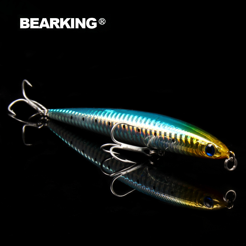 Bearking 1PC pencil 12.5cm 26g Hard Fishing Lure Crank Bait sinking Lake River Fishing Wobblers Carp Fishing Baits hot model hengjia 1pc 11 5cm 11 2g pencil fishing lure hard isca artificial minnow crank bait fake bait fishing hook carp fishing wobblers