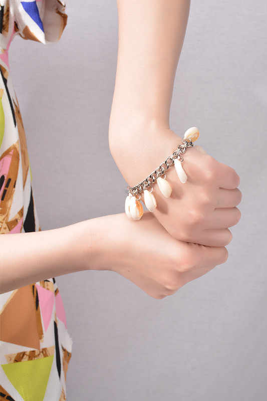 Lato kobiety boso Sandle kostki bransoletki Foot biżuteria srebrny Shell Tassel Anklets plaża akcesoria 1 PC