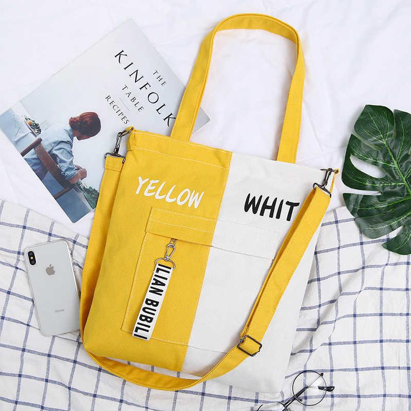 Женская винтажная Холщовая Сумка, брендовая Повседневная сумка через плечо, простая большая тканевая пляжная сумка, 2020