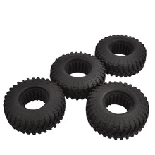 4pcs RC Crawler 114mm Tires with Foam Inset for 1/10 Scale Axial SCX10 D90 CC10 Tamiya mhpc 1 10 rc rock crawler scale accessory golf clubs for axial tamiya scx10 d90 cod fh31114