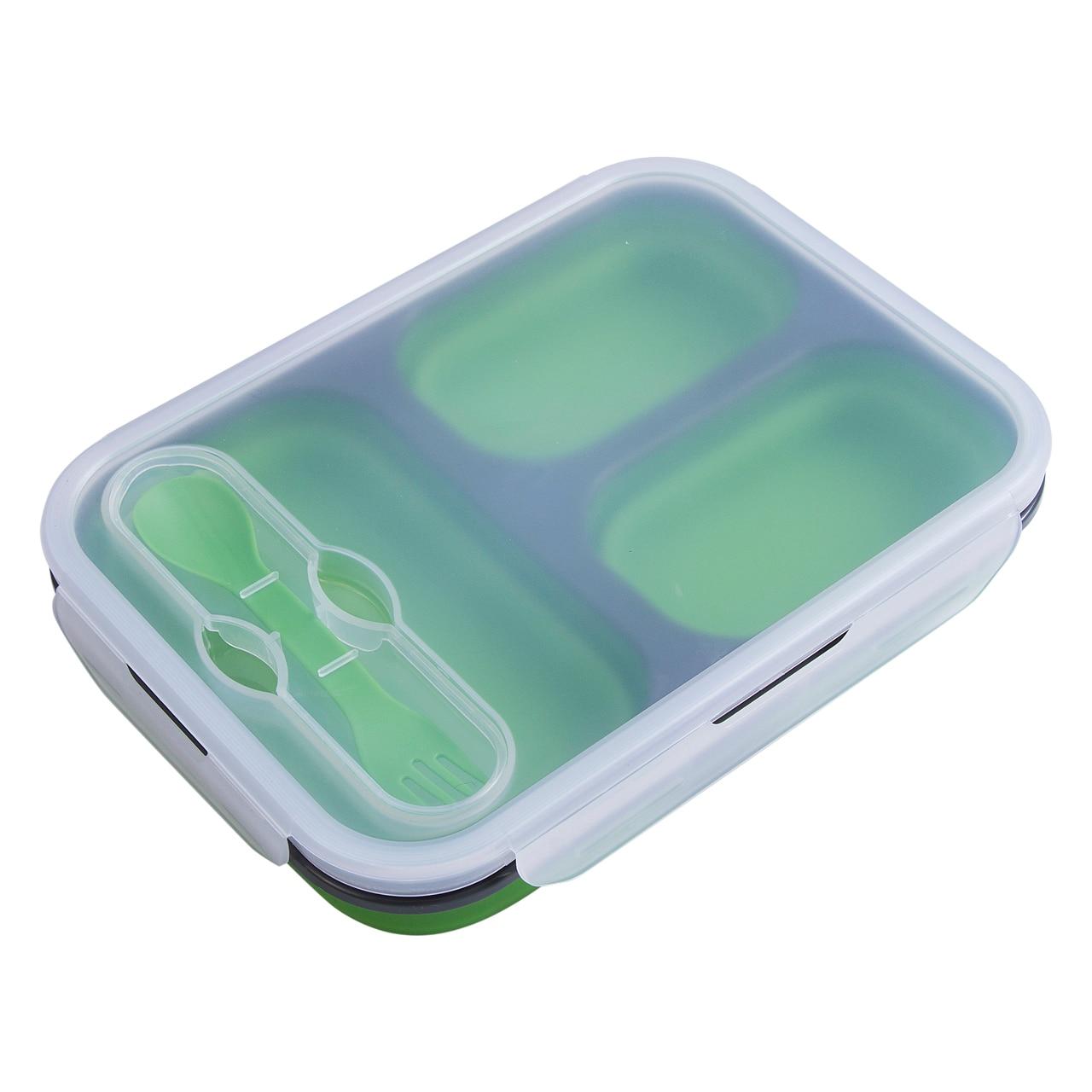 3596410bbacf Силиконовый складной Портативный Коробки для обедов большой Ёмкость чаша  Обед Bento box складной