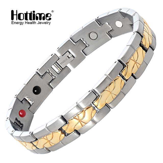 Hottime Elegant 316l Stainless Steel Magnetic Therapy Bracelet Pain Relief For Arthritis And Carpal Tunnel